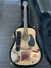 Starcaster Accoustic Guitar, Case, Electric Tuner, Strap, Pitch Pipes, Strings