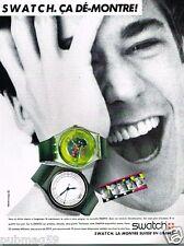 Publicité advertising 1985 Les Montres Swatch