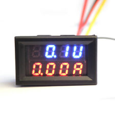Dual LED DC Digital Ammeter Voltmeter Panel Amp Volt Meter 100A 100V