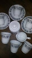 SALE. VTG ISABELLA by TOWNE HOUSE Tea Cups & Saucer Tea Set 12 Pcs. Japan. EXC.