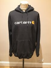 Mens Carhartt Sweater Size 2XL Tall Black Hoodie Irregulares Casual Jumper