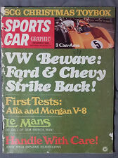 SPORTS CAR GRAPHIC MAGAZINE 1968 DECEMBER VW CHEVY FORD ALFA MORGAN LEMANS