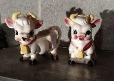 Vintage Ceramic Cow Dairy Creamer & Sugar Holder