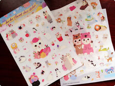 4 sheet  Cat  Diary planner Notepad calendar notebook stationery deco sticker