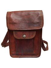 """9""""  Genuine Indian Leather messenger Bag Shoulder Bag for i Pad"""