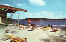 sunbathers view of Gull Lake from the pool at MADDEN LODGE, BRAINERD, MN 1966