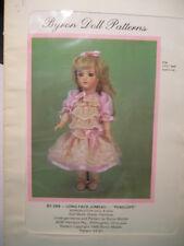 "Vintage Byron Doll Pattern Long Face Jumeau ""Penelope"""