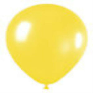 "12 CRYSTAL YELLOW LATEX BALLOONS HELIUM GRADE 11"""