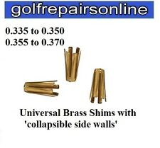 UNIVERSAL GOLF SHAFT ADAPTOR SHIMS FOR METAL WOODS - CONVERTS 0.335 to 0.350