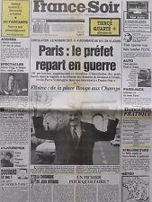 ▬► Journal France Soir 10/03/1990 Eddy Mitchell Johnny Clegg Surya Bonaly