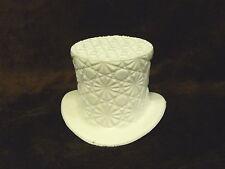 White Diamond Pattern Glass Top Hat Sassy Jazzy SALE!