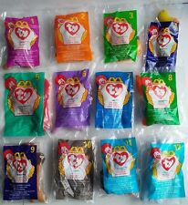 1998 McDonald's TY Beanie Babies Complete Set Of 12 Boys & Girls New Sealed