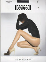 WOLFORD COLLANT SATIN TOUCH 20 TIGHTS - RAVEN - TAILLE S - NEUF
