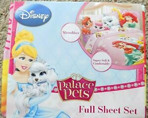 Disney Palace Pet Fabulous Friend Ariel Little Mermaid Microfiber Full Sheet Set