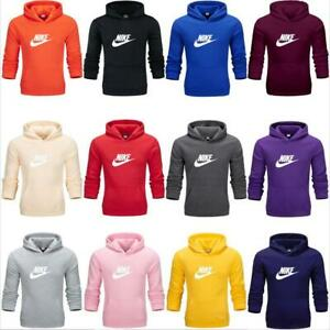 Nike Mens Womens Sports Pullover Hoodie Sweatshirt Casual Hooded Jumper Tops