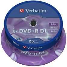 8x Speed DVD+R DL Blank Discs - 25 Pack Spindle - VERBATIM