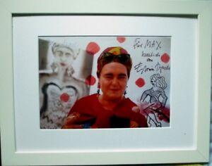 "ELVIRA BACH ""Selbst"" HAND-SIGNIERT,30x29cm Offset mit Rahmen,orig.signed"