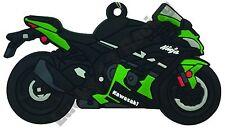 Kawasaki ZX10R rubber key ring motor bike cycle gift keyring chain