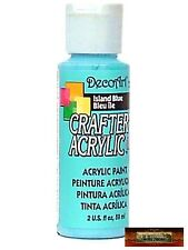M01447 MOREZMORE DecoArt ISLAND BLUE Crafter's Acrylic All Purpose Paint DSI