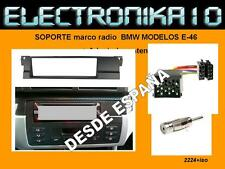 KIT Marco Adaptador de Montaje para Radio DIN BMW 3 1998->2006 e46 + CONEXIONES