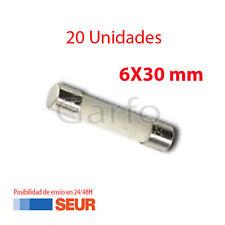 20X Fusible Ceramica 6X30 mm 6.3A 250V. Pack 20 Fusibles