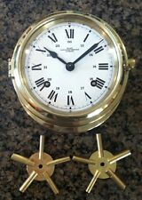 """Wempe Chronometerwerke Hamburg"" Marine Clock: comes with 2 clock winding keys"
