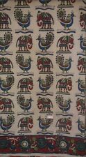 Cotton kalamkari block print fabric - 100 cms length by 43 New 3