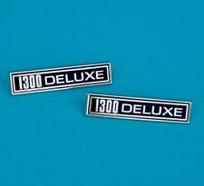"FORD ESCORT MK 1 BADGE, EARLY "" 1300 DELUXE "" PAIR"