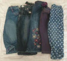 Baby Girl 6-9 months jeans & jeggings bundle 5 pairs John Lewis Miniclub