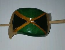 Authentic jamaica handcarved bamboo hair clip ethnic