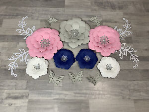 Nursery Decor Paper Flowers. Handmade Paper Flowers. Wall Decor