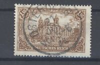Dt. Reich Mi.Nr. 114c, 1,5 Mark Freimarken 1920 gestempelt, geprüft Infla (31682