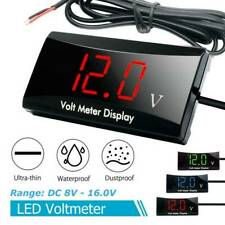 12V LED Digital Display Voltage Volt Gauge Car Motorcycle DC 8V-16V Panel Meter