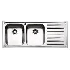 Lavello cucina Apell 116cm 2 vasche gocciolatoio dx Torino acciaio inox satinato