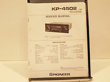 Pioneer Kp-4502 Cassette Car Stereo Service Manual Oem Original