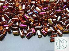 10g Czech Rulla Twin Beads Topaz Sliperit