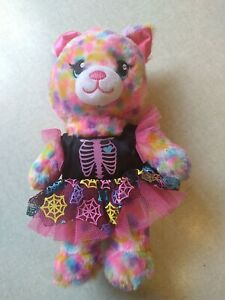 "Build A Bear Halloween Cat Plush 7"" Spiderweb Dress"