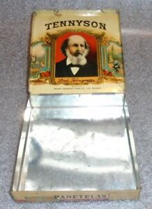 old Tennyson tin litho cigar box