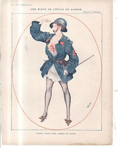 1916 La Vie Parisienne Original French cover only by Herouard - Art Deco