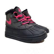 Nike Woodside Chukka Boots Anthracite/hyper Pink/black 9c 859427-001 Girls Acg