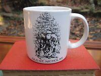 Vintage Old St Nicholas Old World Design Coffee Tea Mug White Black England