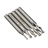 5pcs End Mill Cutter 2 Flutes CNC Drill Bits Milling Lathe Engraving Tool Set