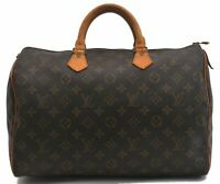 Authentic Louis Vuitton Monogram Speedy 35 Hand Bag M41524 LV B6593