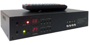 Analog NTSC RF Coax To RCA Video Audio Demodulator W/ Picture-In-Picture Output
