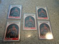 1989 HOOPS ROOKIE LOT DAVID ROBINSON SPURS