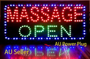 Massage LED, Massage Open Signs, Big Size 60x30cm, OZ power plug, 24hr ShipOut