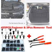 425x Car Body Plastic Push Pin Rivet Fasteners Trim Moulding Clip &Remover Tool
