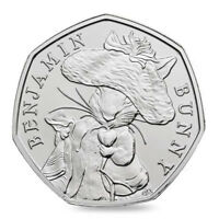 1 x Benjamin Bunny Beatrix Potter 50p Coins Bright Uncirculated Rare 2017 Coin