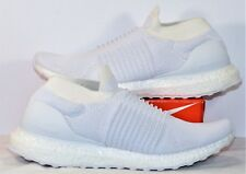 3209a99489dd2 Adidas Ultra Boost Laceless Triple White Running Shoes Sz 8.5 NEW S80768