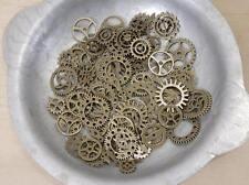 20 pc Lot Mixed Gear Charms, Bronze. steampunk dieselpunk grunge industrial